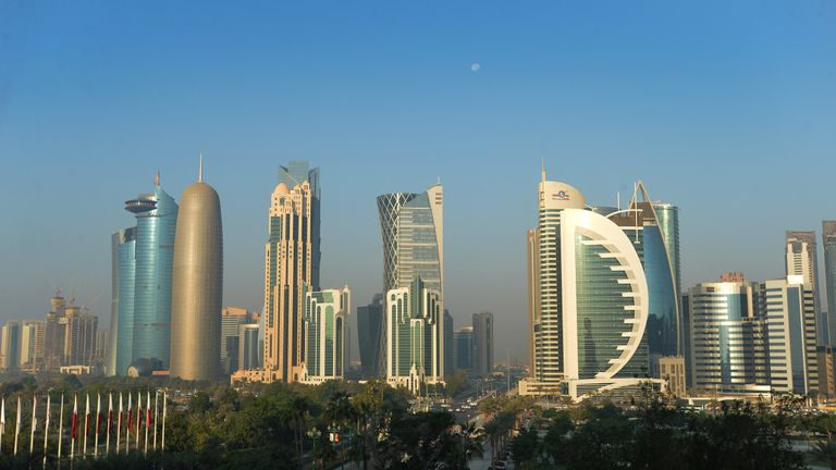 The Doha skyline, Qatar