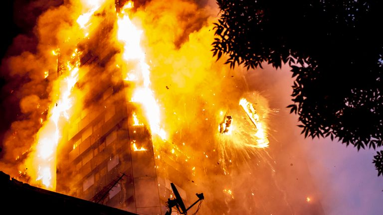 Fire at a tower block in Latimer Road