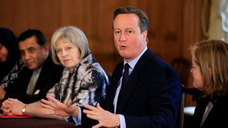 David Cameron and Theresa May in 2015
