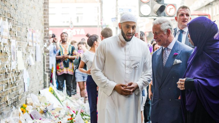 The Prince of Wales said he was 'deeply impressed' by imam Mohammed Mahmoud,