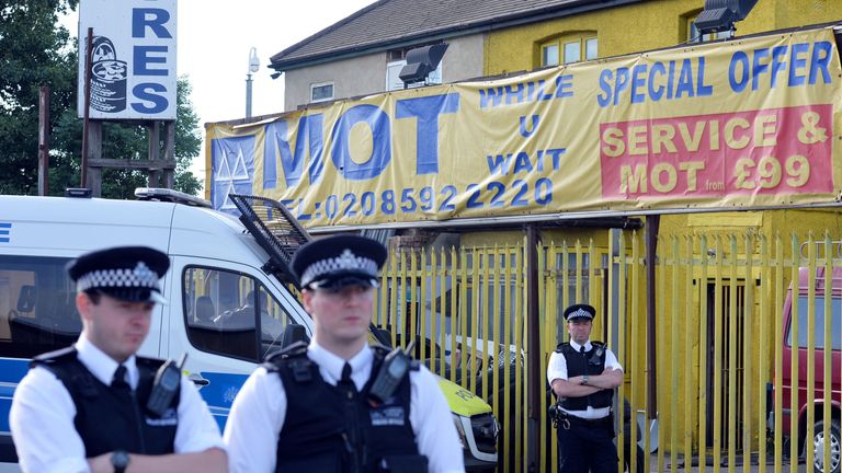 Police carried out further raids in east London on Monday