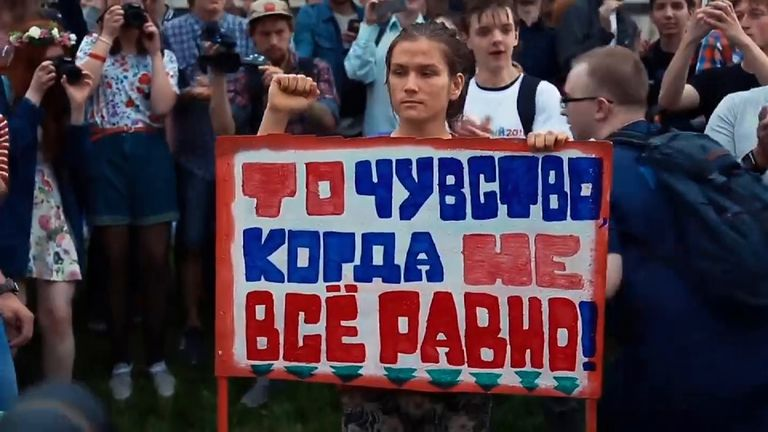Opposition leader Alexei Navalny called for nationwide protests