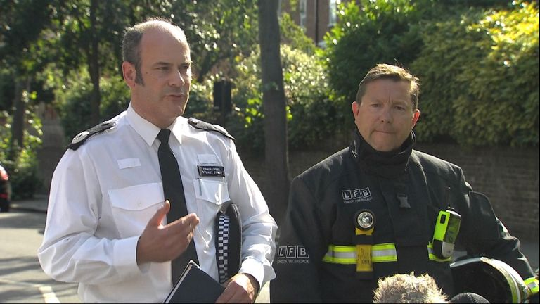 The police, the fire brigade and the ambulance service give an update on the Grenfell Tower block fire