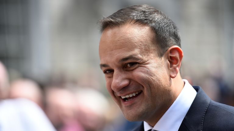 Leo Varadkar is all smiles after being elected as Ireland's new Prime Minister