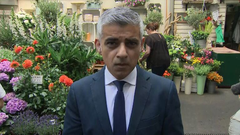 Mayor of London Sadiq Khan says legitimate questions must be asked