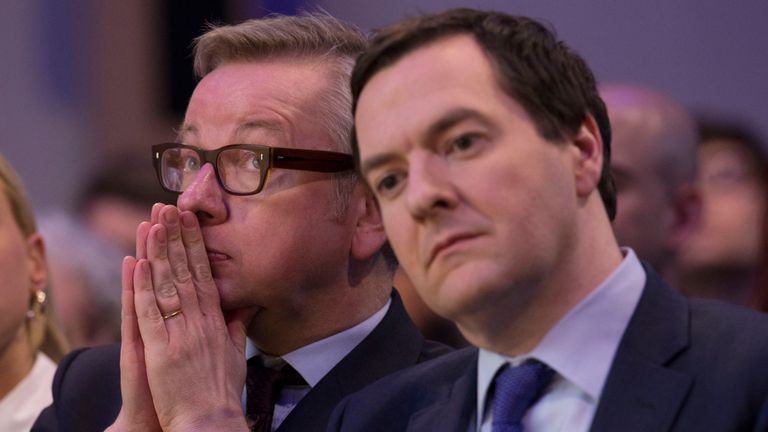 Michael Gove and George Osborne