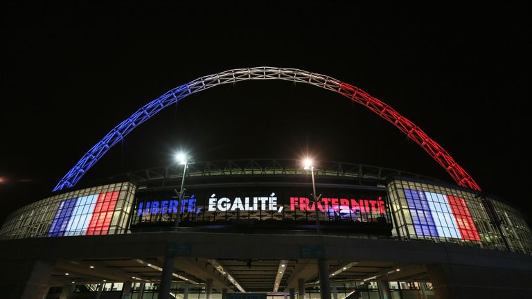 Wembley remembered the Paris victims when the teams met four days after the attack