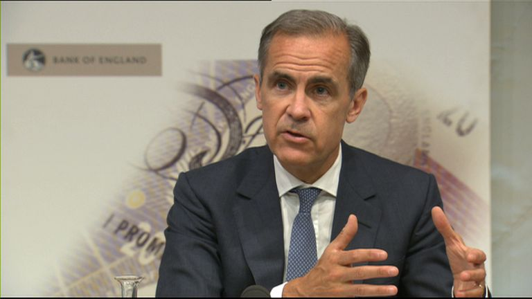 Bank of England governor Mark Carney at the launch of the Bank's twice-yearly Financial Stability Report 27 June 2017