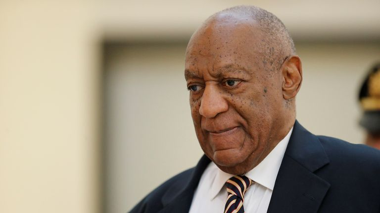 Bill Cosby arrives for the first day of his sexual assault trial
