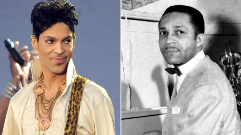 Prince and his father John Lewis Nelson