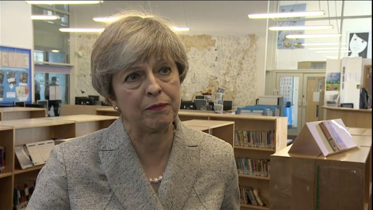 Theresa May says something has 'clearly gone very wrong'