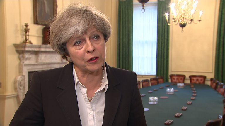 Theresa May says counter-terrorism budgets have been protected