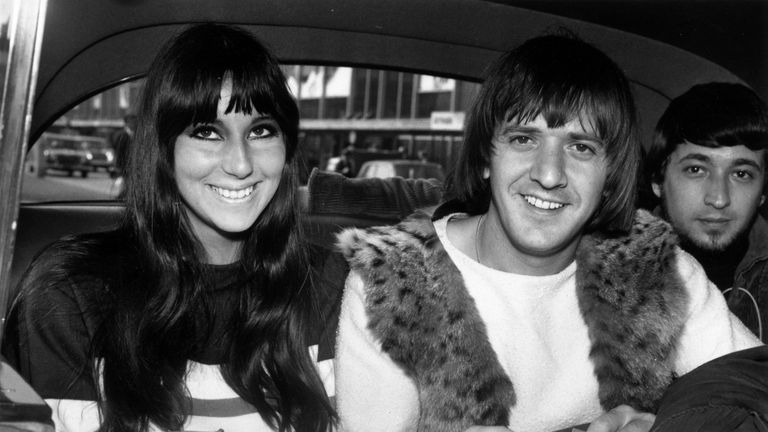 Together Cher and husband Sonny Bono made up pop folk duo Sonny & Cher