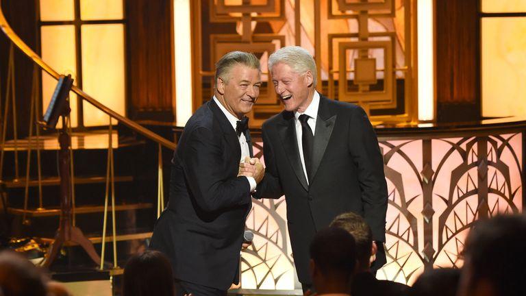 Baldwin with Bill Clinton