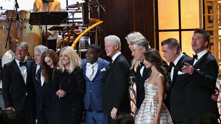 Jack McBrayer, Robert De Niro, Julianne Moore, Jane Krakowski, Tracy Morgan, Bill Clinton, Ireland Baldwin, Alec Baldwin, Hilaria Baldwin, Daniel Baldwin and Billy Baldwin