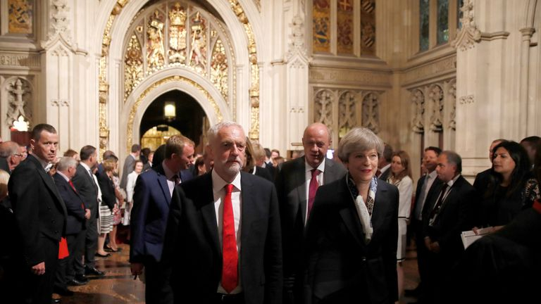 Jeremy Corbyn says he will oppose the Prime Minister's legislative programme