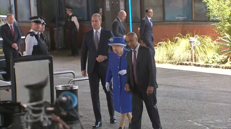 The Queen and Prince William visit the scene of the Grenfell Tower fire