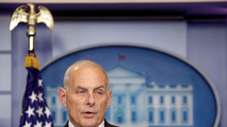 Secretary of Homeland Security John Kelly due to set out new rules