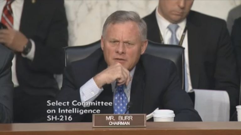 Committee chairman Richard Burr asked whether Russian hackers targeted the US election