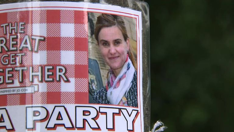 Jo Cox on 'The great get together' poster.