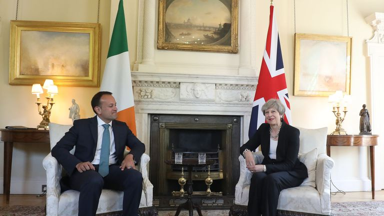 Theresa May and Irish Taoiseach Leo Varadkar held talks at Downing Street earlier this month