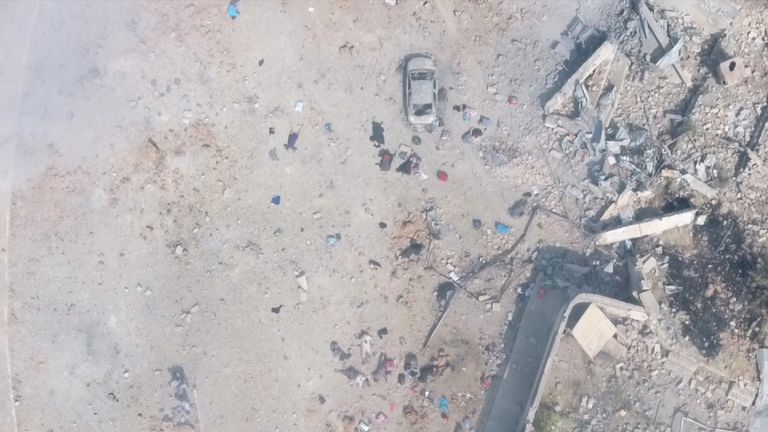 The civilians were gunned down by IS fighters as they tried to flee Mosul