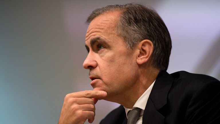 Governor of the Bank of England Mark Carney hosts his Financial Stability Report press conference at the Bank of England in central London on November 30, 2016