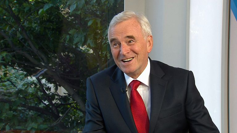 John McDonnell says Labour would form a minority government