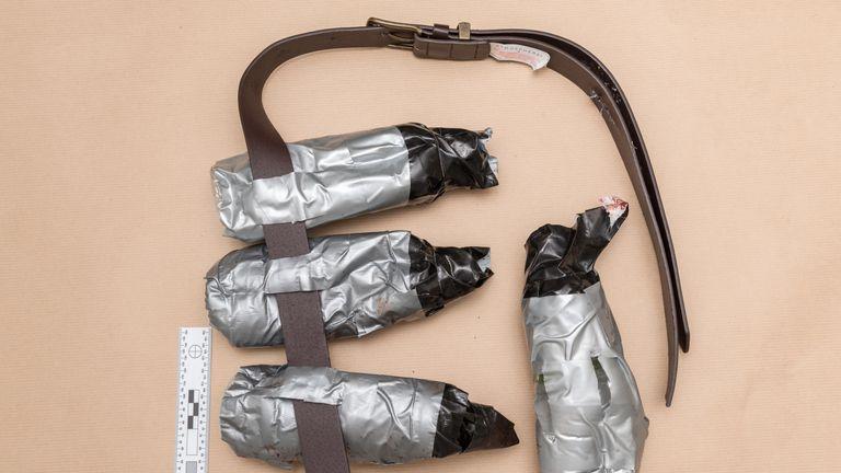 Fake suicide belt