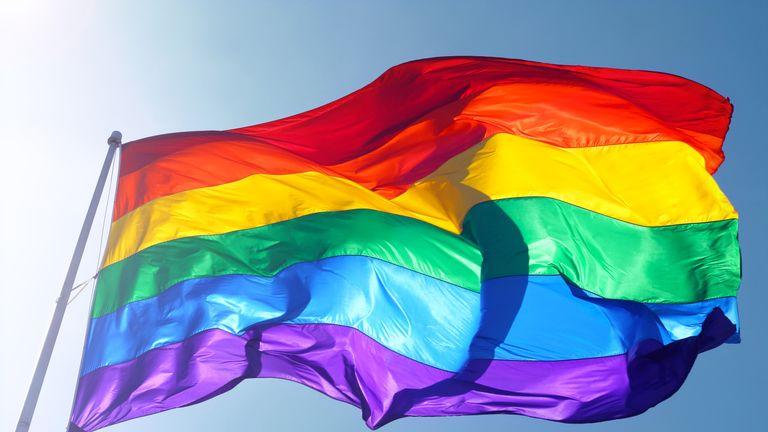 A rainbow flag