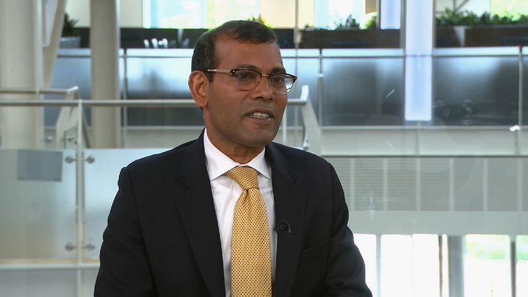 Former president of the Maldives Mohamed Nasheed