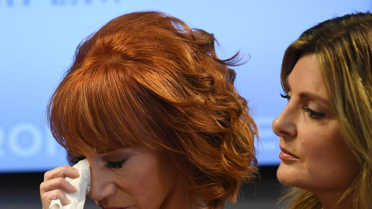 Kathy Griffin was tearful during the news conference