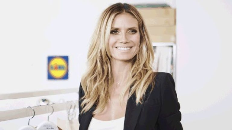 Supermodel Heidi Klum is launching a fashion range for Lidl supermarket