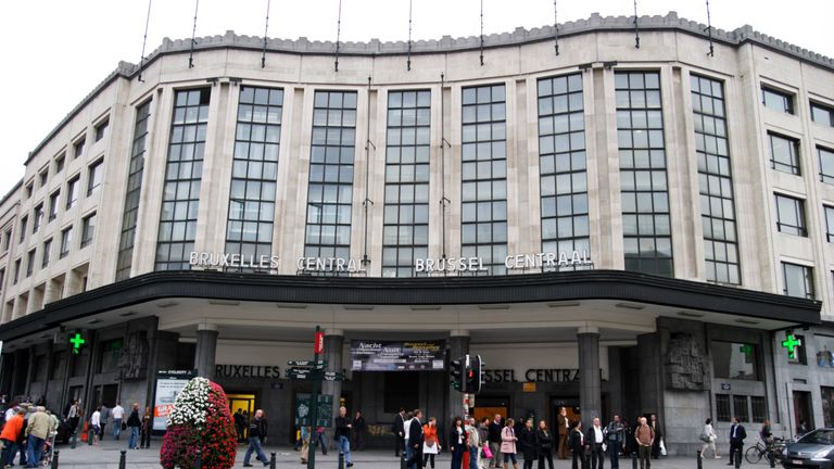Brussels Central is Belgium's busiest train station. File pic