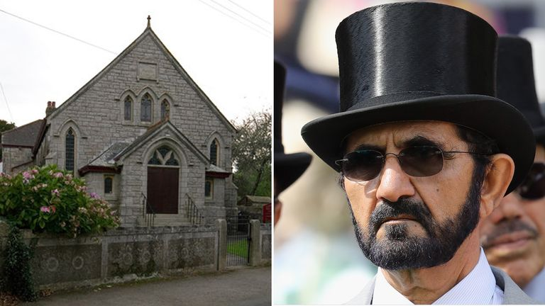 Sheikh Mohammed has helped Cornish villagers buy Godolphin Methodist Chapel. Pic. Ian Capper