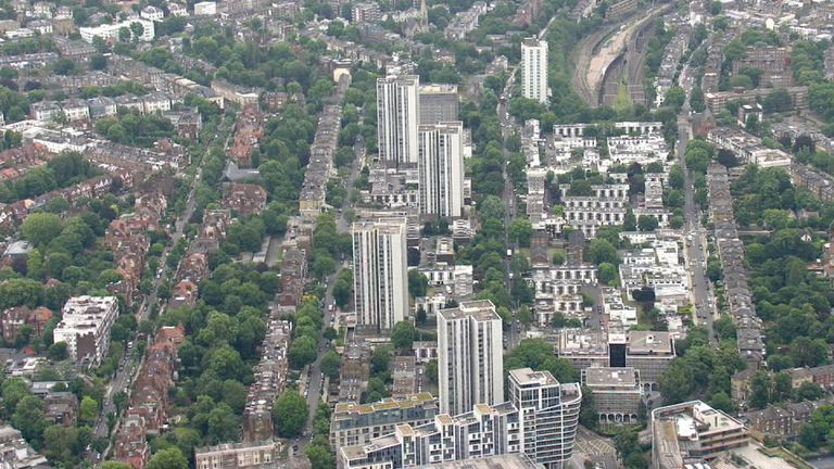 The towers in Camden affected by fire safety fears