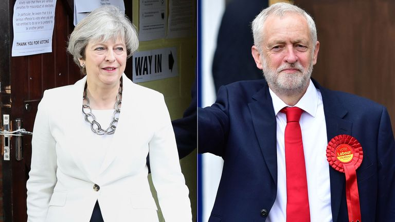Theresa May and Jeremy Corbyn are battling it out for the keys to Downing Street