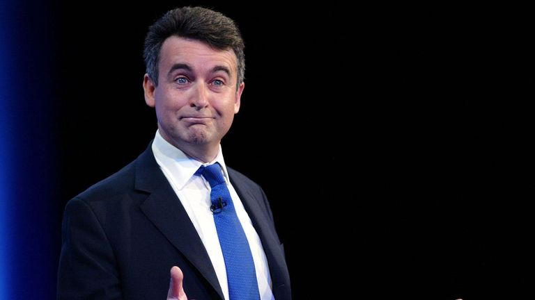 Bernard Jenkin pictured at a Tory party conference in 2004