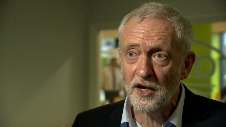 Jeremy Corbyn clarifies his earlier call for Theresa May to resign.