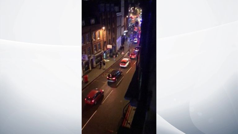 Gunfire is heard during a London terror attack
