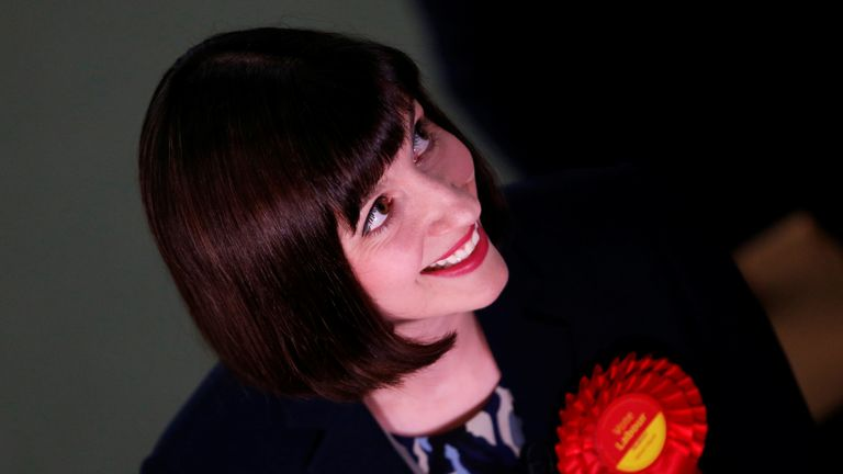 Labour's Bridget Phillipson was one of the first to be told she had won her seat in Houghton and Sunderland South