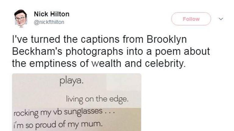 The book's captions were the main source of mockery on Twitter