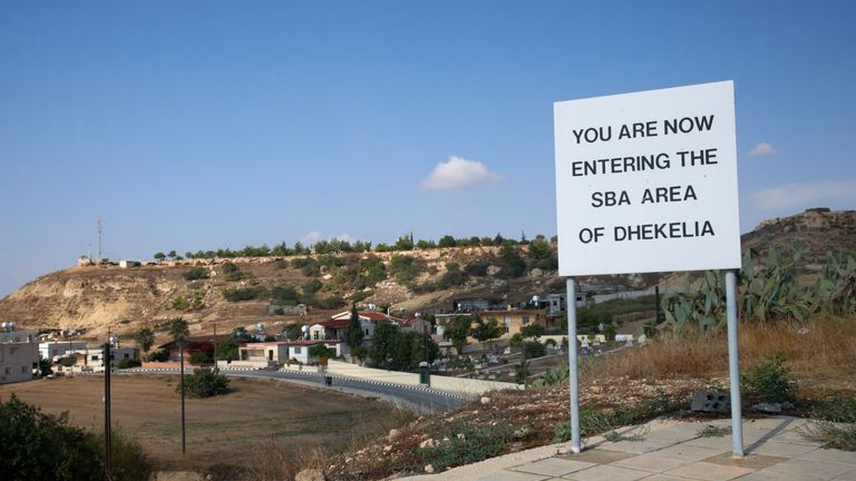 Sovereign Base area of Dhekelia (file pic)