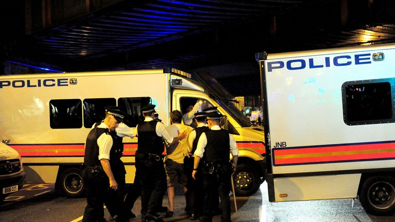 A man is arrested following a terror attack in Finsbury Park