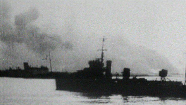 Footage of the Dunkirk evacuations
