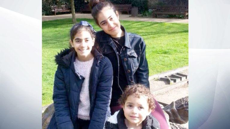 (L-R) Choucair sisters Fatima, 11; Mierna, 14; and Zeinab, 3