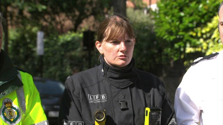 London Fire Brigade Chief Dany Cotton giving statement.