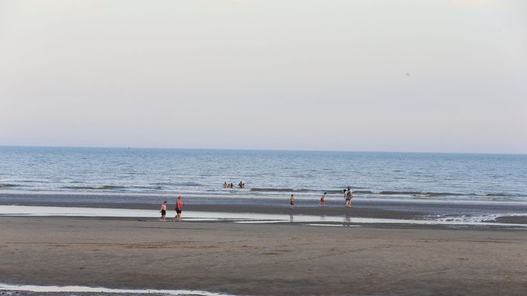 Camber Sands beach is three miles long and nearly half-a-mile wide at low tide