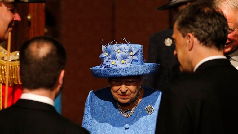 The Queen arrives at the Palace of Westminster ahead of the Queen's Speech