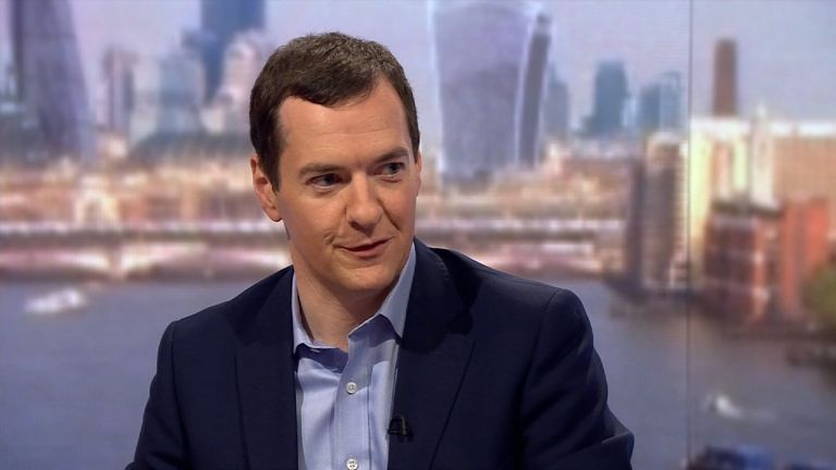 George Osborne has called Theresa May 'a dead woman walking'